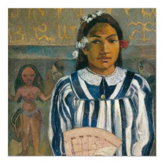 """Antepasados de Tehamana de Paul Gauguin Invitación 5.25"""" X 5.25"""""""