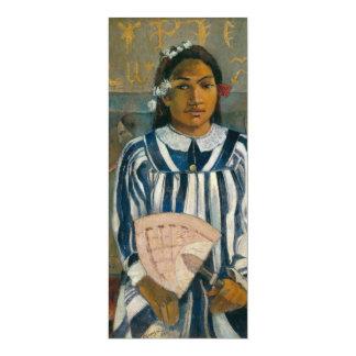 """Antepasados de Tehamana de Paul Gauguin Invitación 4"""" X 9.25"""""""