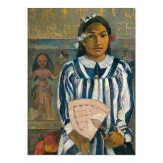 """Antepasados de Tehamana de Paul Gauguin Invitación 5.5"""" X 7.5"""""""