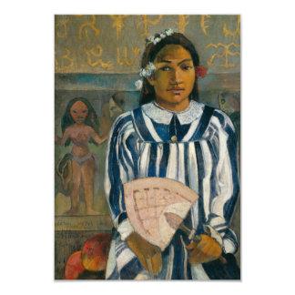 """Antepasados de Tehamana de Paul Gauguin Invitación 3.5"""" X 5"""""""