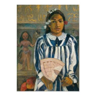 """Antepasados de Tehamana de Paul Gauguin Invitación 4.5"""" X 6.25"""""""