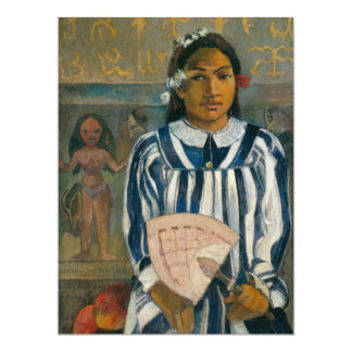 """Antepasados de Tehamana de Paul Gauguin Invitación 6.5"""" X 8.75"""""""