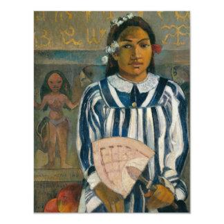 """Antepasados de Tehamana de Paul Gauguin Invitación 4.25"""" X 5.5"""""""