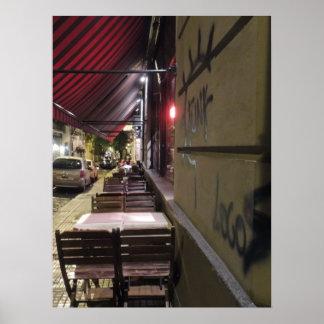 Antes de café de la Hora-Acera de la cena en Bueno Poster