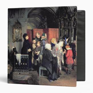 """Antes de la confesión, 1877 carpeta 1 1/2"""""""