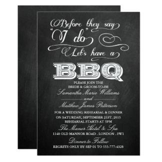 """¡Antes de que digan que hago Lets tenga un Bbq! - Invitación 5"""" X 7"""""""