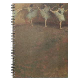 Antes de que el ballet cerca desgasifique, cuaderno