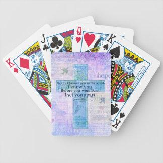 Antes de que le formara en la biblia del 1:5 de baraja de cartas