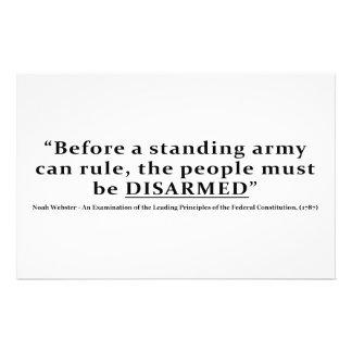 Antes de que un ejército pueda gobernar la gente d papeleria personalizada