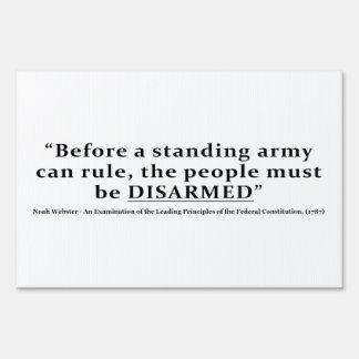 Antes de que un ejército pueda gobernar la gente señales