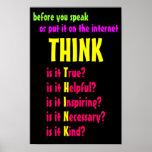 Antes de que usted hable piense poster