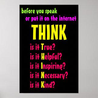 Antes de que usted hable piense póster