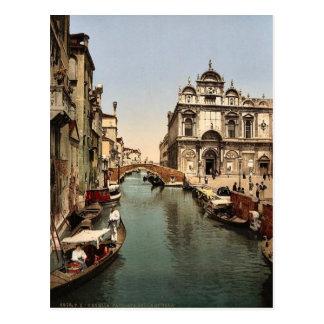 Antes de St Mark y de hospital público, Venecia, Tarjetas Postales