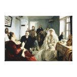 Antes del boda, 1880s impresión en lienzo estirada