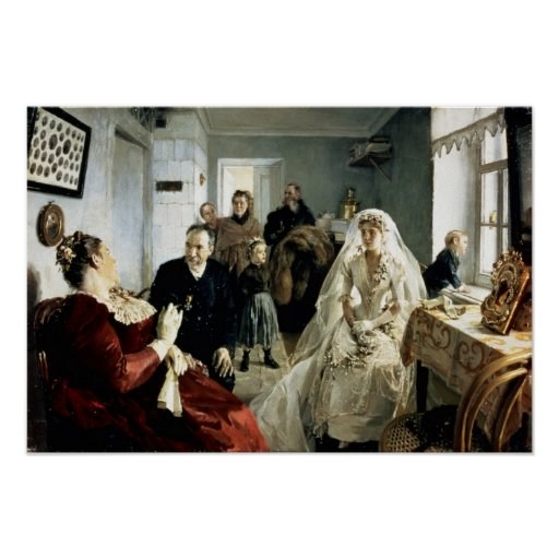 Antes del boda, 1880s impresiones