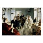 Antes del boda, 1880s tarjetas