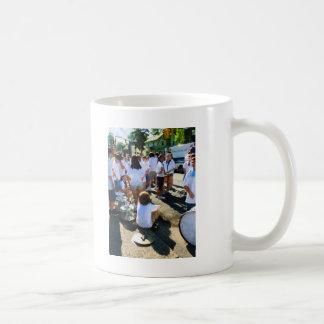 Antes del desfile taza de café