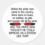 Antes del hombre blanco vinieron los 2 E.E.U.U. Etiquetas