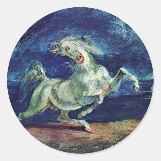 Antes del relámpago caballo asustado pegatina