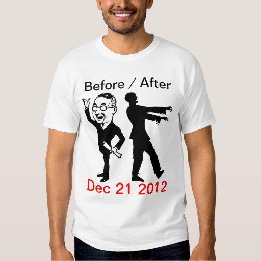Antes/después del 21 de diciembre de 2012 camisa