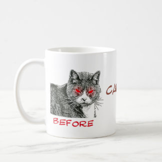Antes y después del cafeína - taza #1