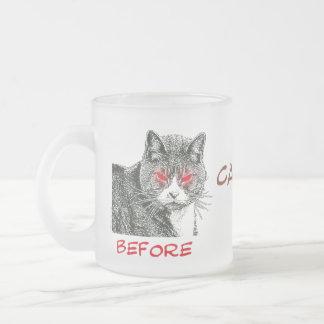 Antes y después del cafeína - taza #4