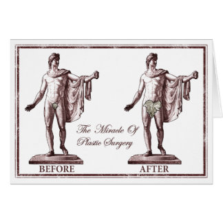 Antes y después tarjeta de felicitación