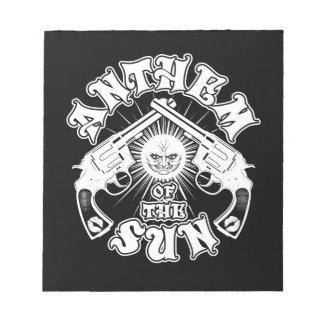Anthem of the Sun Guns Logo Notepad