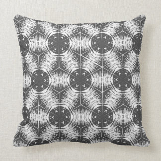 Anther and Filament Gray and White Throw Pillow