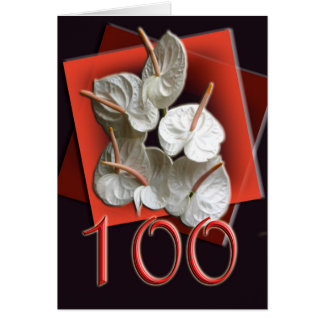 Antheriums Happy 100th Birthday Greeting Card