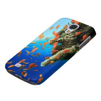 Anthias de Lyretail en el arrecife de coral Funda Para Galaxy S4