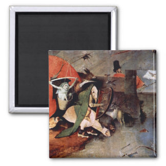 Anthony Altar -Temptation of St. Anthony, detail 7 2 Inch Square Magnet