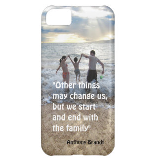 Anthony Brandt familly quote beach background iPhone 5C Case