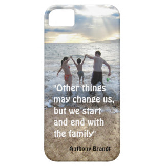 Anthony Brandt familly quote beach background iPhone SE/5/5s Case