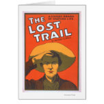 "Anthony E. Wills ""The Lost Trail"" Wester Theatre Card"