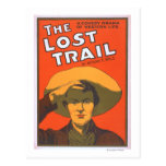 "Anthony E. Wills ""The Lost Trail"" Wester Theatre Postcard"