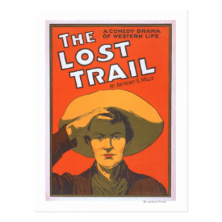"""Anthony E. Wills """"The Lost Trail"""" Wester Theatre Post Cards"""