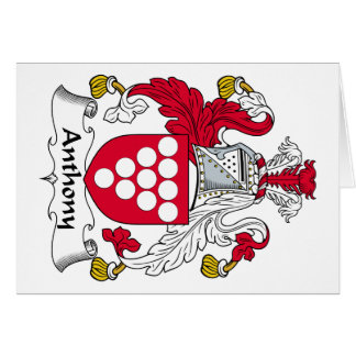 Anthony Family Crest Greeting Card