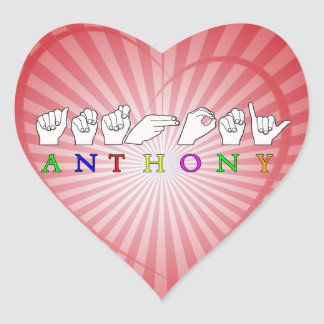 ANTHONY FINGERSPELLED ASL SIGN NAME MALE STICKER