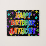 "[ Thumbnail: ""Anthony"" First Name, Fun ""Happy Birthday"" Jigsaw Puzzle ]"