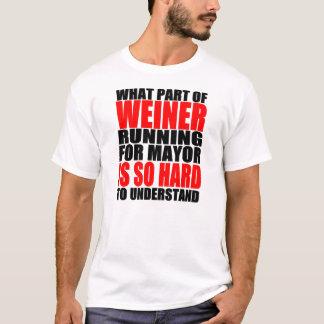 Anthony hilarante Weiner para alcalde Joke Playera