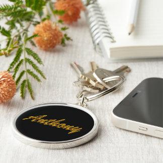 Anthony Round Premium Keychain in Black Style