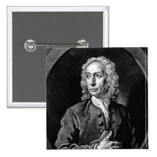 Anthony Sayer, engraved by John Faber Jr Pinback Button