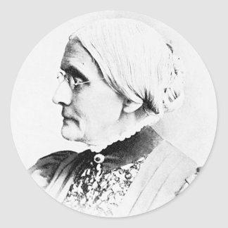 Anthony ~ Susan B. Woman Suffrage Leader Classic Round Sticker