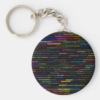 Anthony Text Design I Keychain
