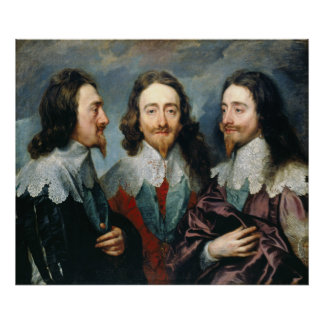 Anthony van Dyck Charles I in Three Positions Poster