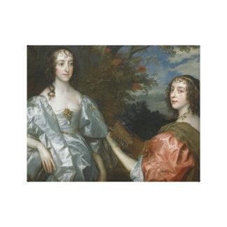 Anthony van Dyck - Katherine, Countess of... Canvas Print
