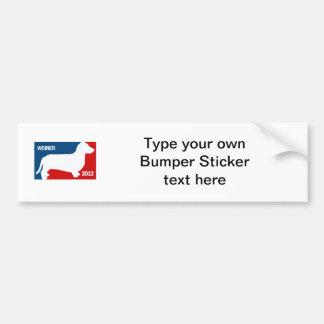 ANTHONY WEINER 2012 CAR BUMPER STICKER