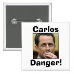 Anthony Weiner - Carlos Danger Pinback Button