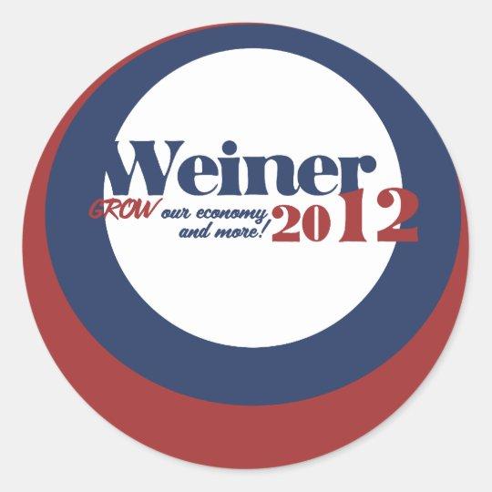 Anthony  Weiner Classic Round Sticker
